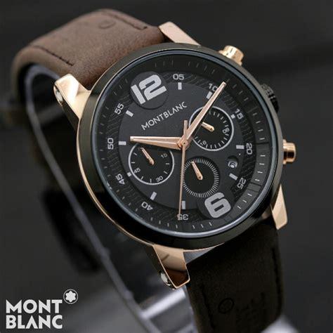 Harga Jam Tangan Montblanc Chronograph Original jual jam tangan montblanc m 382c chrono aktif tali kulit