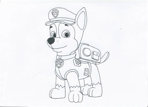 coloring pages of chase from paw patrol paw patrol chase coloring pages coloring pages
