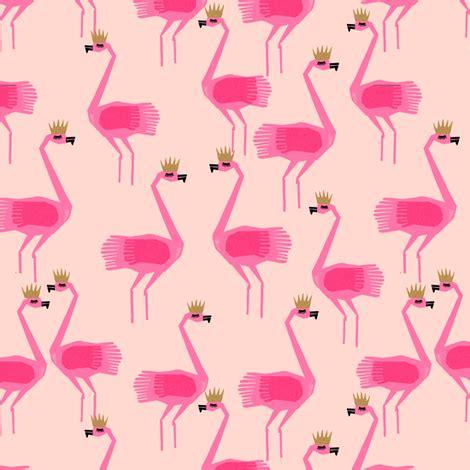 crown wallpaper flamingo flamingo princess blush summer tropical birds fabric