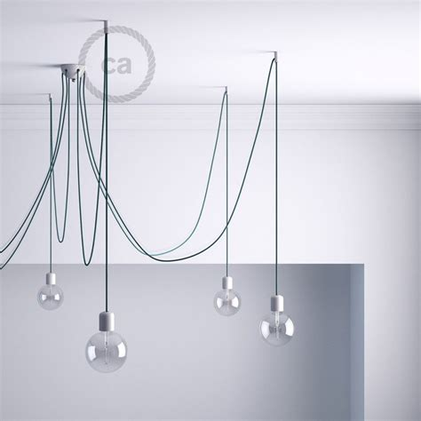 decentralizer white ceiling hook and stop for fabric cable