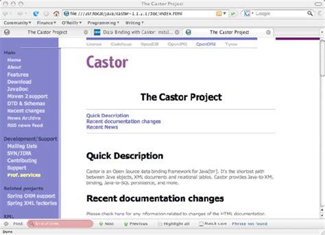 castor tutorial java xml 实现 castor 数据绑定 第 1 部分 安装和设置 castor