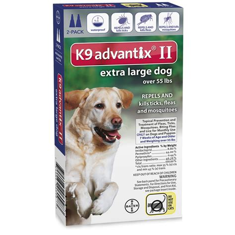 advantix 2 for dogs 2 month k9 advantix ii blue for large dogs 55 lbs