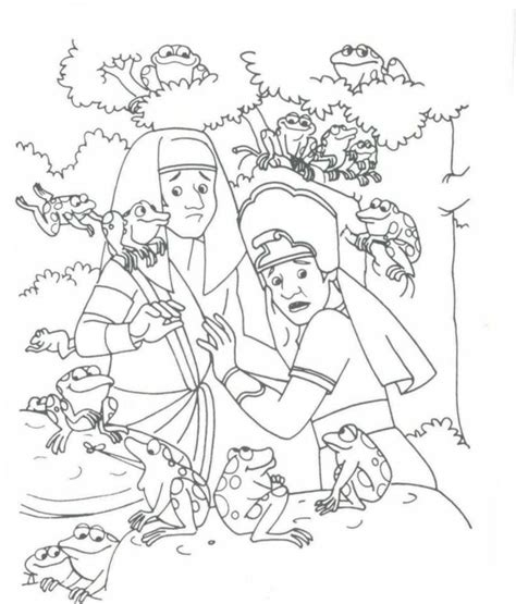 plague of frogs coloring page the 2nd plague frogs exodus 8 coloring bible ot