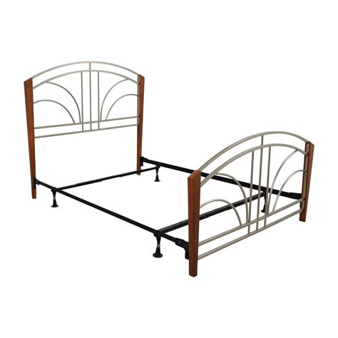 metal bed frames queen 89 off wood post and metal frame queen bed frame beds