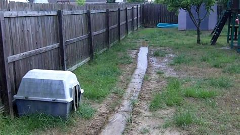 how to fix a wet backyard backyard drainage problem youtube
