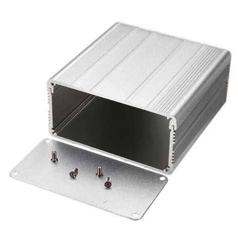 matratze 50 x 100 1pc aluminum enclosure silver diy electronic project