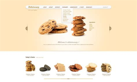 Delecioussary Cookies Free Website Psd Template Vector Image 365psd Com Cookie Website Template