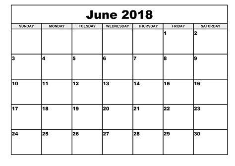 Editable Calendar June 2018 Happyeasterfrom Com Editable Calendar Template