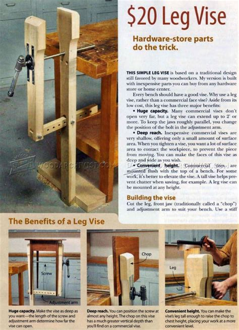 diy leg vise woodarchivist