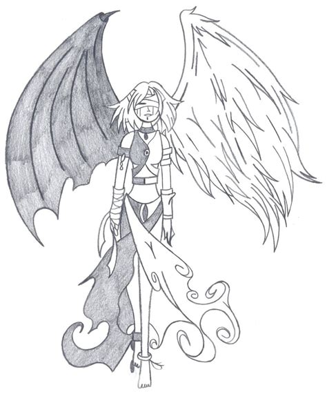 devil heart coloring page devil angel by fallensamurai22 on deviantart