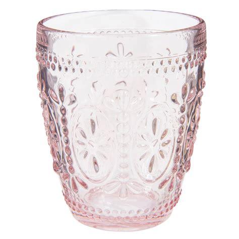 bicchieri maison du monde bicchiere in vetro rosa floral maisons du monde