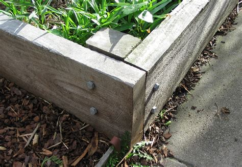 Securing Sleepers To Ground by Raised Garden Beds Green Permaculture