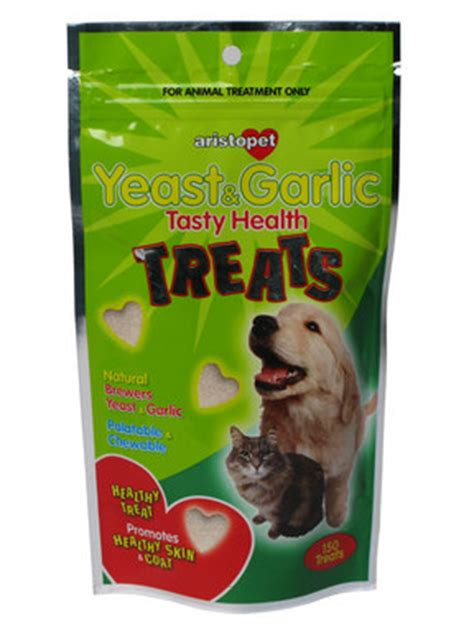 garlic powder for dogs aristopet yeast garlic treats for dogs cats at pet shed