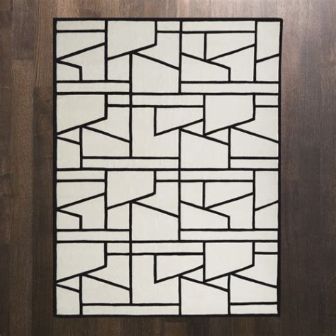 global views rug global views products zig zag rug ivory black