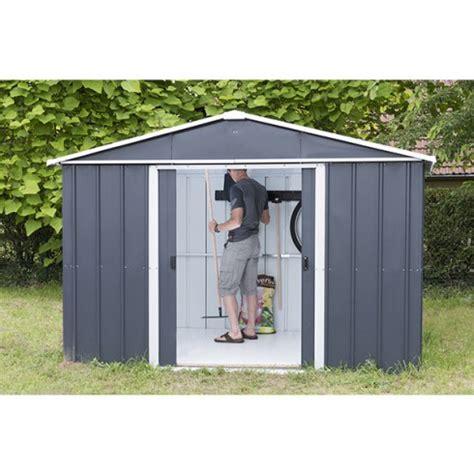 abri de jardin gris anthracite abri de jardin m 233 tal yardmaster 6 44 m 178 couleur gris anthracite kit d ancrage inclus trigano