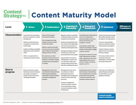 Maturity Model understanding the content maturity model content