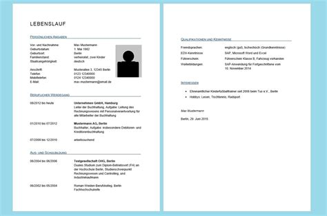 Lebenslauf Vorlage Word 2015 Lebenslauf In Word Erstellen Professioneller Lebenslauf Tabellarisch Tutorial Vorlage