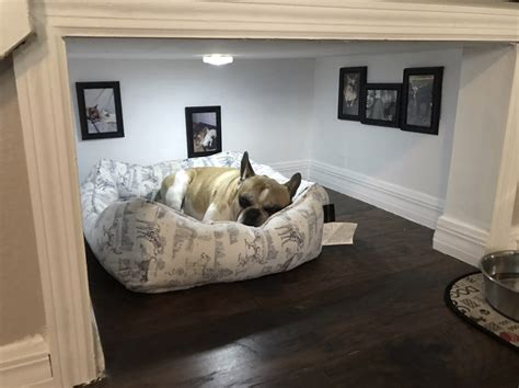 dog bedroom this man made a whole room under the stairs for his dog