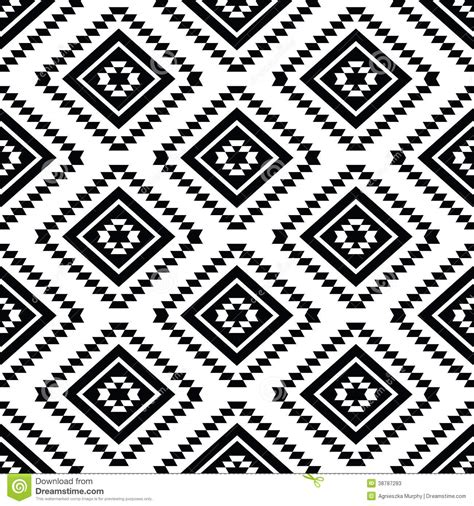 tribal pattern svg tribal seamless pattern aztec black and white stock