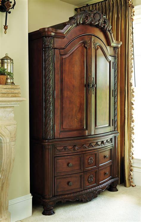 north shore armoire   ashley furniture bedroom
