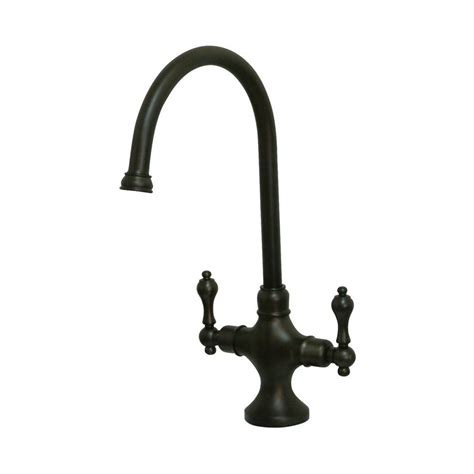 rubbed bronze kitchen faucets shop elements of design classic rubbed bronze 2 handle