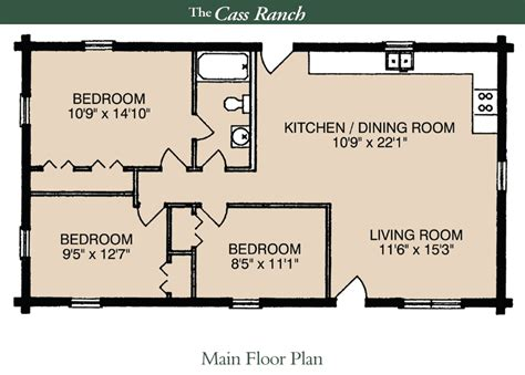 house plans with basement 24 x 44 the cass ranch