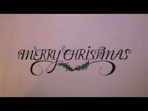 write  cursive cursive fancy letters merry christmas youtube