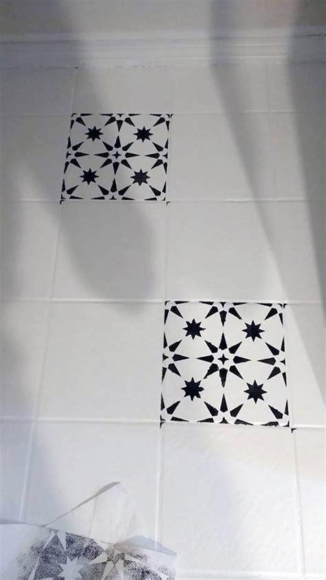 Jazz Up An Old Bathroom Floor Using Stencils