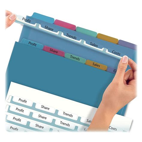 avery easy apply 5 tab template avery index maker easy apply clear label divider ld products