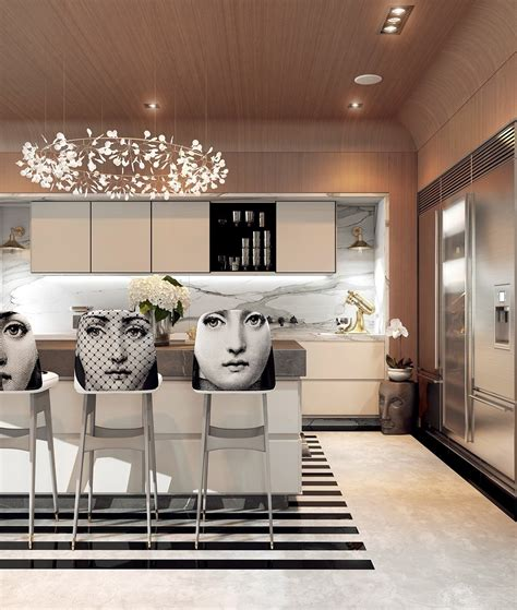 Interior Home Deco by A Modern Art Deco Home Visualized In Two Styles