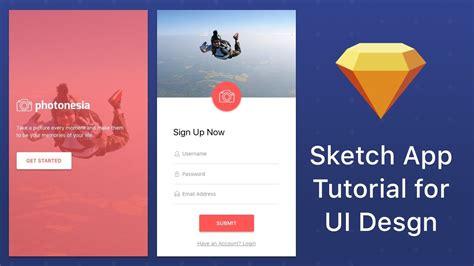 mobile app layout design tutorial photo app mobile ui design tutorial youtube