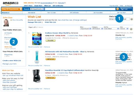 amazon wish list amazon ca