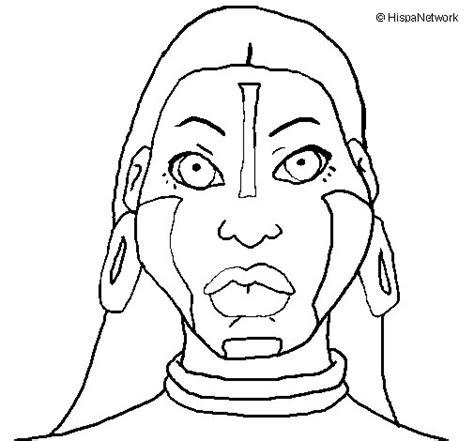 mayas imagenes dibujos dibujo de mujer maya para colorear dibujos net