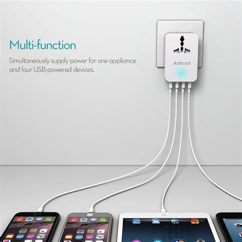 Hoco Car Multi Charger With 4 Power Outlet dodocool 20w 4a smart 4 usb charging port portable multi function travel power adapter wall