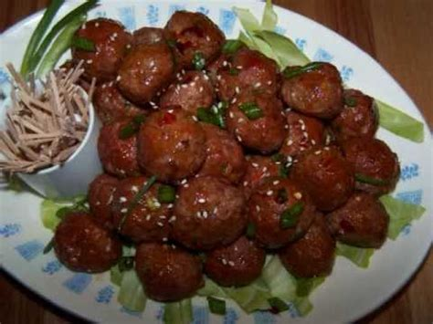party food recipes: asian style meatballs recipe youtube