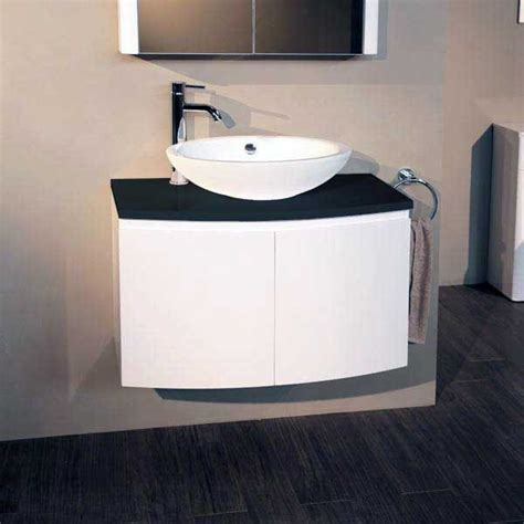Wall Mounted Countertop by Voss 810 Wall Mounted Black Countertop Vanity Unit