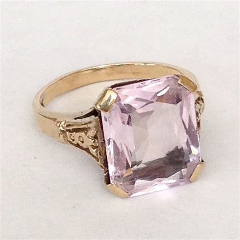 light amethyst engagement rings art deco amethyst ring antique large 5ct stone 10k gold