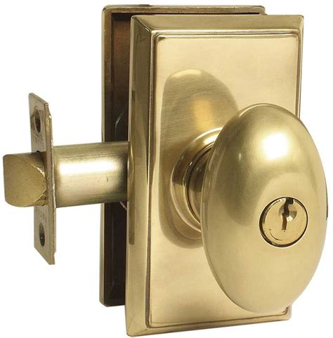 Door Knob Lock by Emtek Egg Brass Keyed Door Knob Lock Shop Handle Locks At Homestead Hardware
