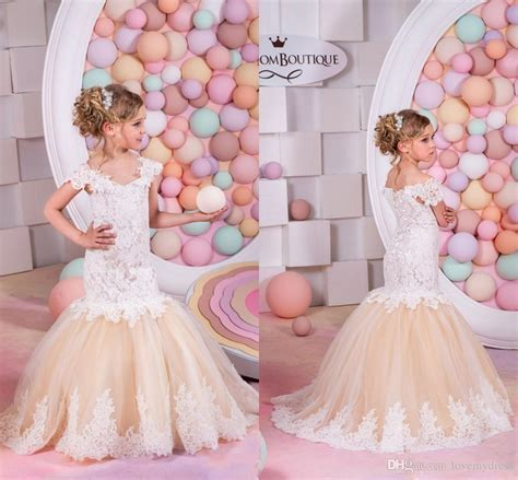 Sale Pink Lace Dress 3 Tahun Dress mermaid dresses cheap lace gown sweep