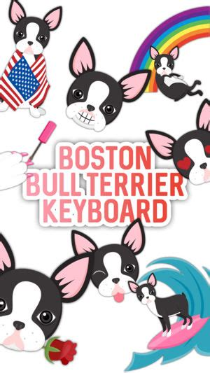 Welcome To Bull Iphone 7 boston bull terrier keyboard on the app store