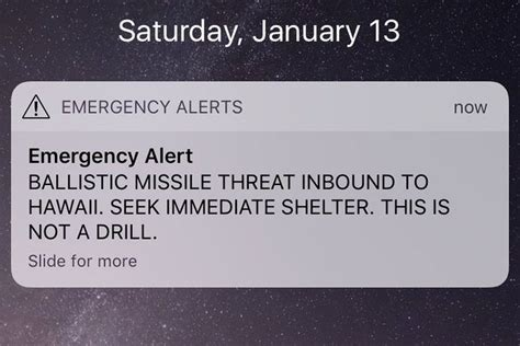 Alarm Emergency hawaii residents received false emergency alert about an