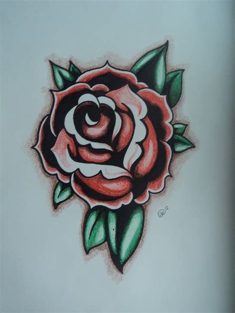 rose tattoo flash art traditional flash www imgkid the image kid