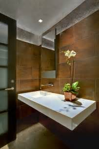 Contemporary Powder Rooms - tucson residence kitchen contemporary powder room phoenix by john senhauser architects