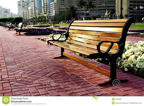 bench city city park bench royalty free stock images image 1268999