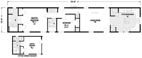 14x70 mobile home floor plan midland 14 x 70 956 sqft mobile home factory expo home