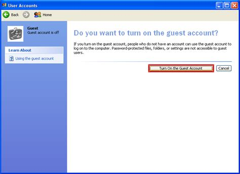 windows 7 password reset guest account general computers enable guest account on windows xp