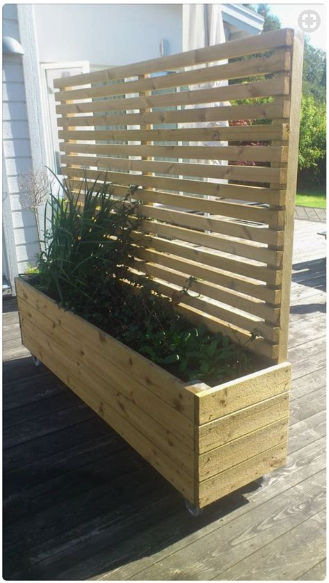 9 Foot Trellis Cedar Planter 2x8x2 8 Foot Trellis