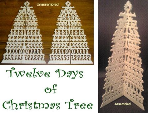 12 days of christmas tree papincraft