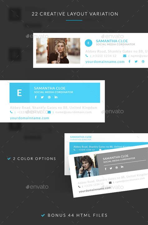 15 awesome email signature psd templates web graphic