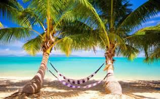 tropical beach hammock hd desktop wallpaper widescreen high definition fullscreen mobile